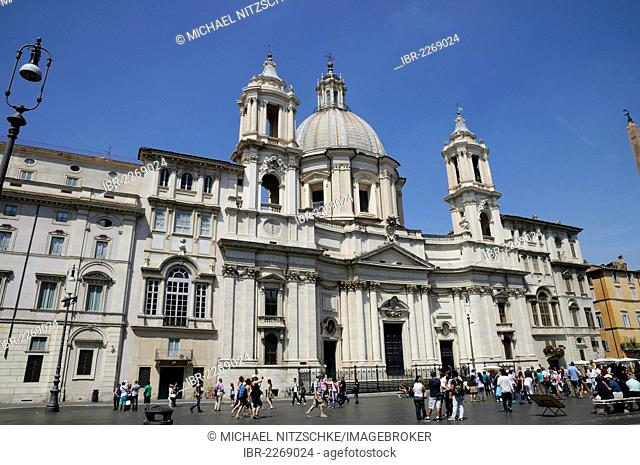 Church of Sant Agnese in Agone, Piazza Navona, Rome, Italy, Europe