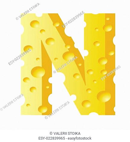 cheese letter N