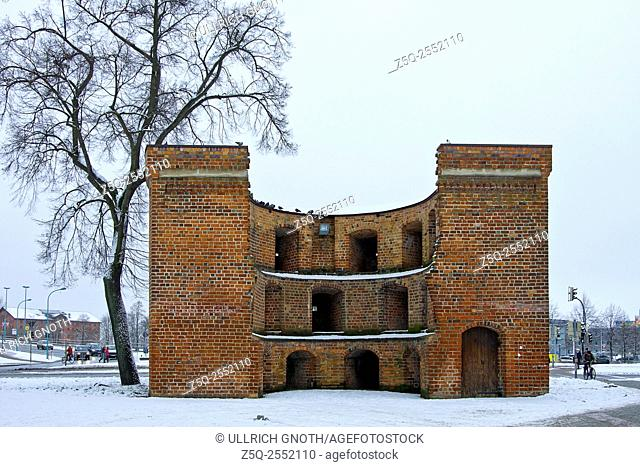 Old town fortification being part of the Eastern city gate of Neubrandenburg, Mecklenburg, Germany