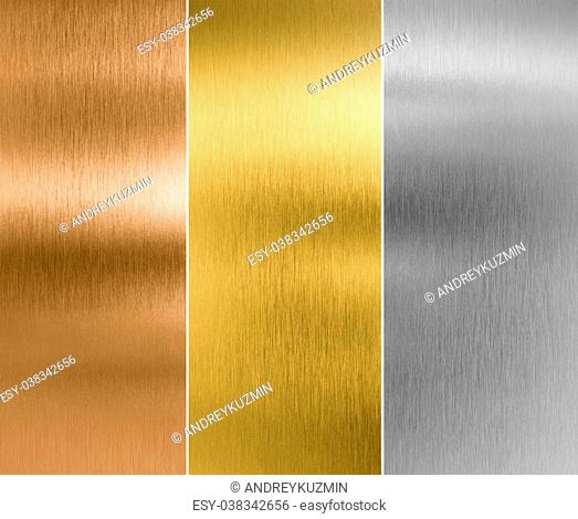 high quality silver, gold and bronze metal backgrounds