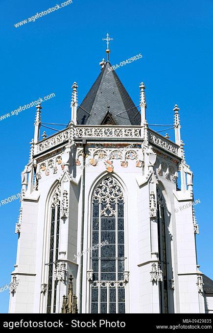 Germany, Bavaria, Hassfurt, Knight's Chapel, late Gothic Marian Shrine