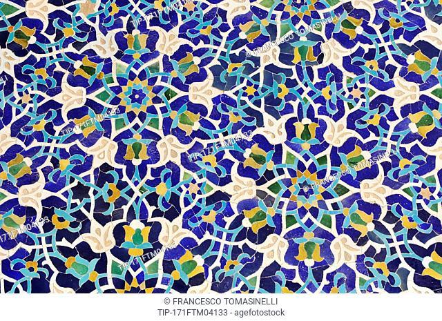 Iran, Yazd, Masjed e Jameh Mosque, Decoration