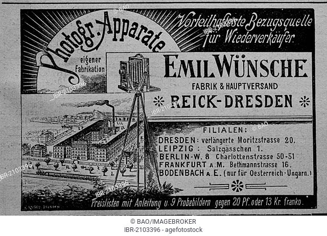 Advertisement, published in the magazine Gartenlaube in 1890