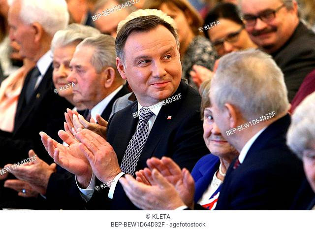 November 19, 2018 Warsaw, Poland. Presidential Couple during the reception for couples with long married life. Pictured: President Andrzej Duda