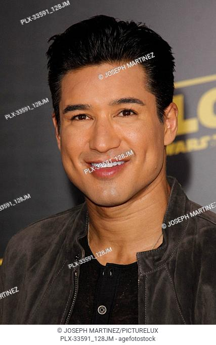 """Mario Lopez at the Premiere of Lucasfilm's """"""""Solo: A Star Wars Story"""""""" held in Hollywood, CA, May 10, 2018. Photo by Joseph Martinez / PictureLux"""