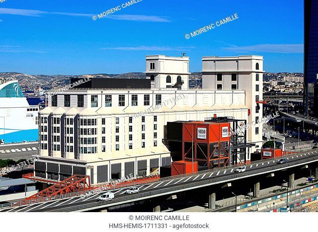 France, Bouches du Rhone, Marseille, Euro-Mediterranean area, district La Joliette, wharf Lazaretto, The Cultural Spaces Silo Arenc