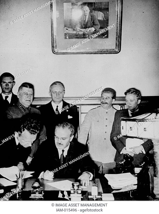 The Molotov–Ribbentrop Pact, named after the Soviet foreign minister Molotov and the German foreign minister von Ribbentrop