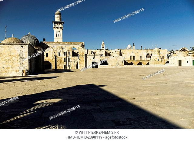 Israel, Jerusalem, holy city, listed as World Heritage by UNESCO, East of Jerusalem, Palestinian sector, Temple Mount