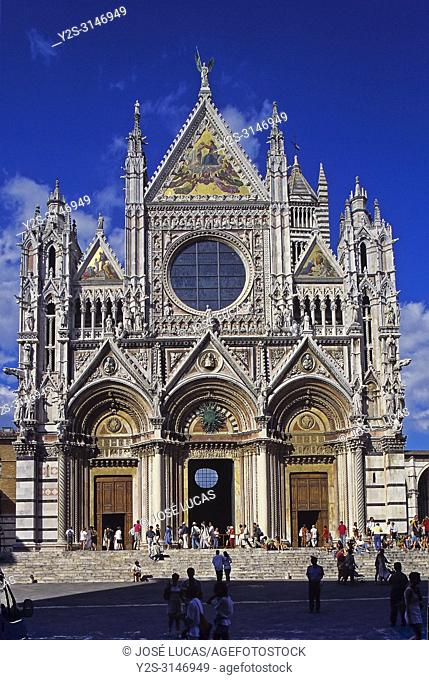 Cathedral of Santa Maria de la Asuncion - 13th century. Main façade. Siena. Italy. Surope