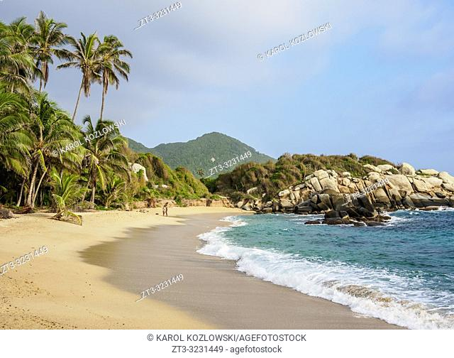 El Cabo San Juan del Guia beach, Tayrona National Natural Park, Magdalena Department, Caribbean, Colombia