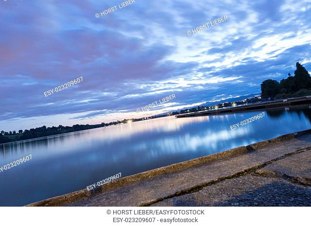 Seen The Lake Monate from Monate. Lago di Monate. Varese. Italy