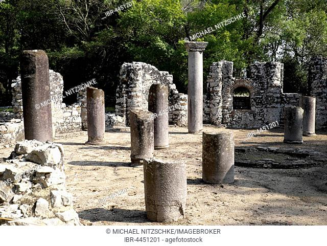 Baptistery, ancient city of Butrint, Vlora, Albania