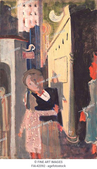 Street Scene by Rothko, Mark (1903-1970)/Oil on canvas/Abstract expressionism/1936-1937/The United States/National Gallery of Art