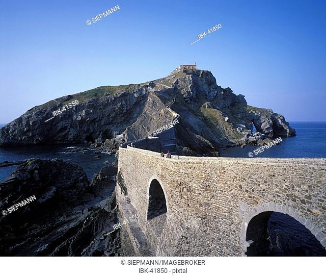 Bizkaia San Juan de Gaztelugache Basque country Spain