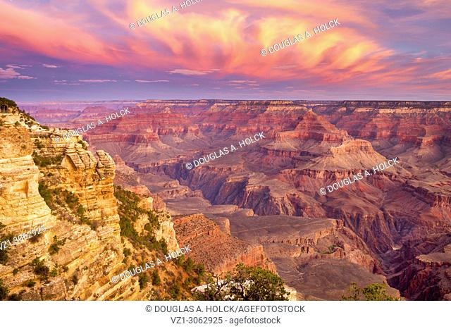 Flaming Sunrise over the Grand Canyon