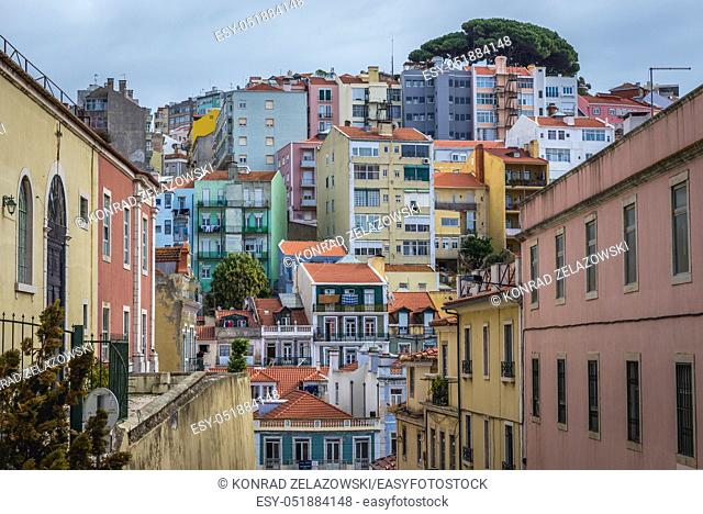 Tenement houses in Arroios district of Lisbon, Portugal