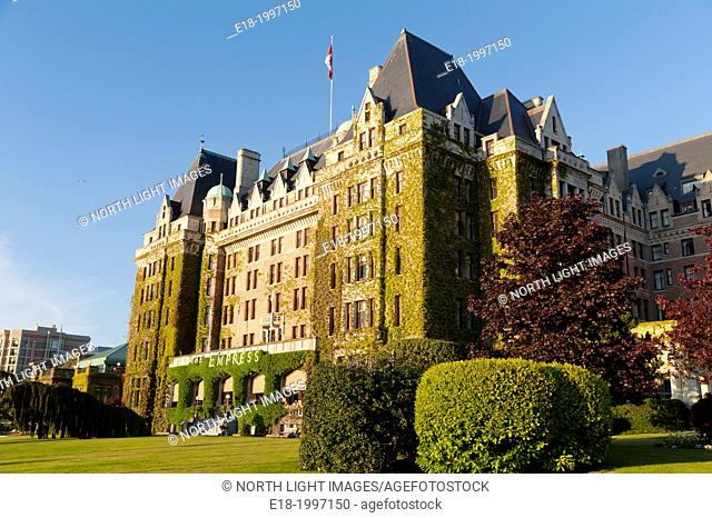 Canada, BC, Victoria. The iconic Empress Hotel, opened in 1908 by Canadian Pacific Hotels