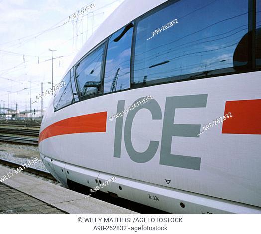 ICE high-speed train. Switzerland