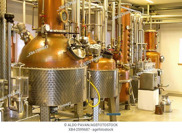 Alembic for the preparation of brandy, Brennerei Guglhof, Hallei bei Salzburg, Salzburg region, Austria