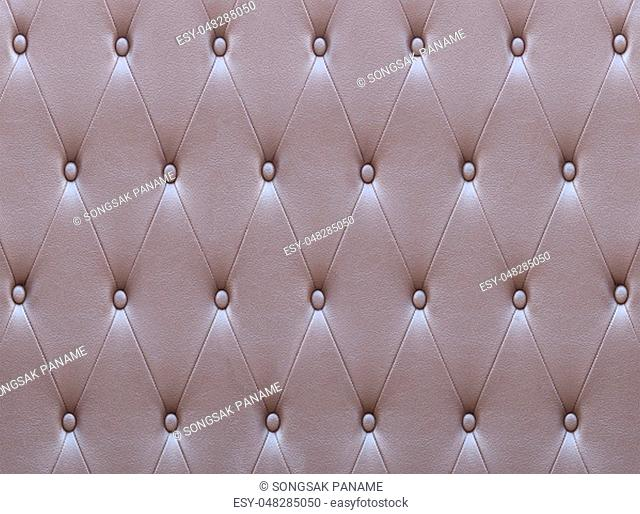 Pattern of brown leather seat upholstery use for background