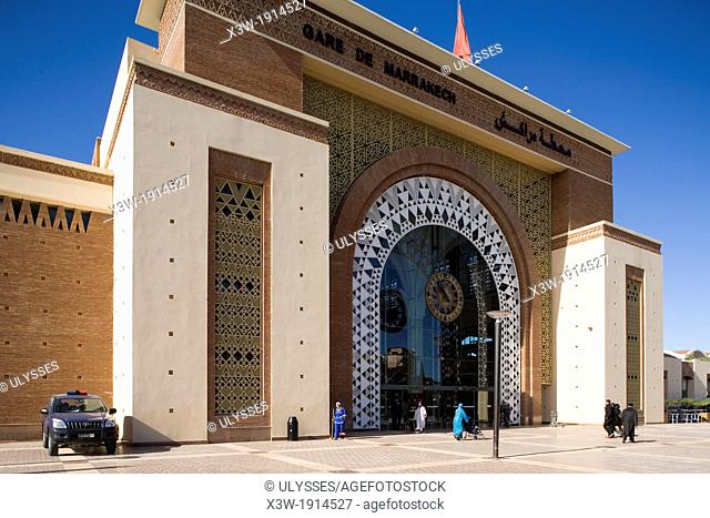 africa, morocco, marrakech, railway station