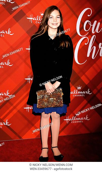 Hallmark's 'Christmas at Holly Lodge' screening at 189 The Grove Drive - Arrivals Featuring: Bella Neal Where: Los Angeles, California
