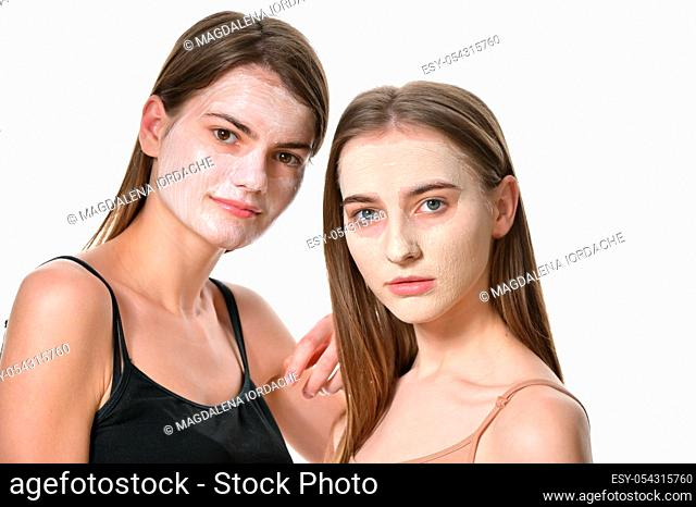 Details of Young Women With Facial Mask