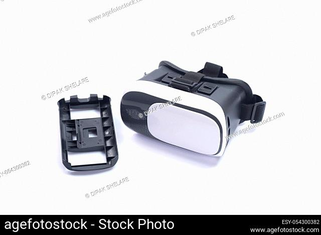 VR Box / Virtual Reality glasses isolated on white background