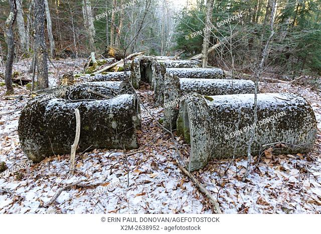 Abandoned culverts along Tunnel Brook drainage of Benton, New Hampshire USA