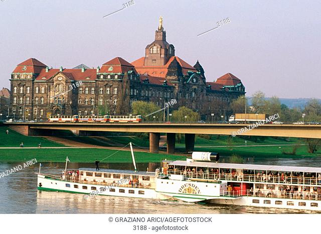 The Weisse Flotte. Dresden. Germany