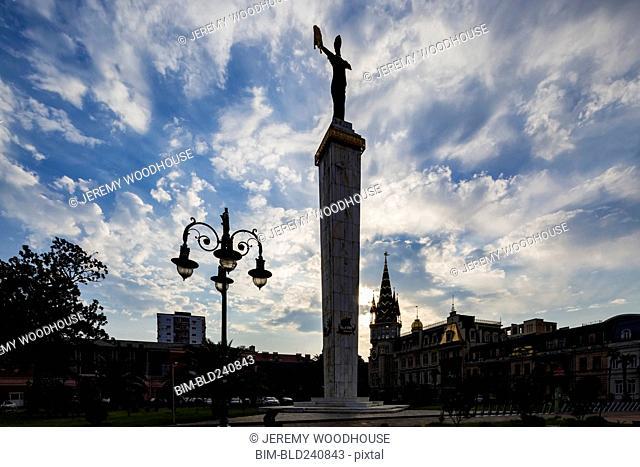 Tall monument in Batumi, Adjara Region, Georgia
