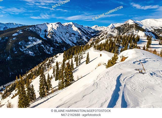 The Maroon Bells, Snowmass (Aspen) ski resort, Colorado USA