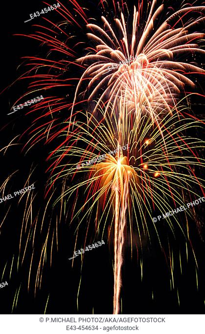 Fireworks, exploding in the sky