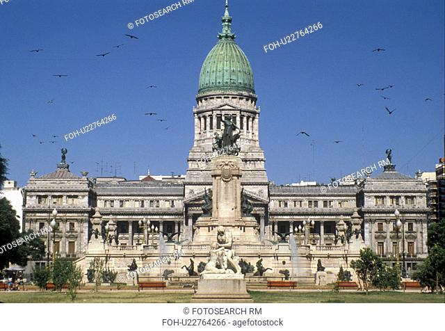 Buenos Aires, Argentina, National Congress in the capital city of Buenos Aires.
