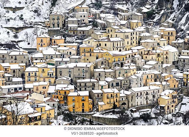 Castelmezzano, Lucanian dolomites, Potenza, Basilicata, Italy, Europe