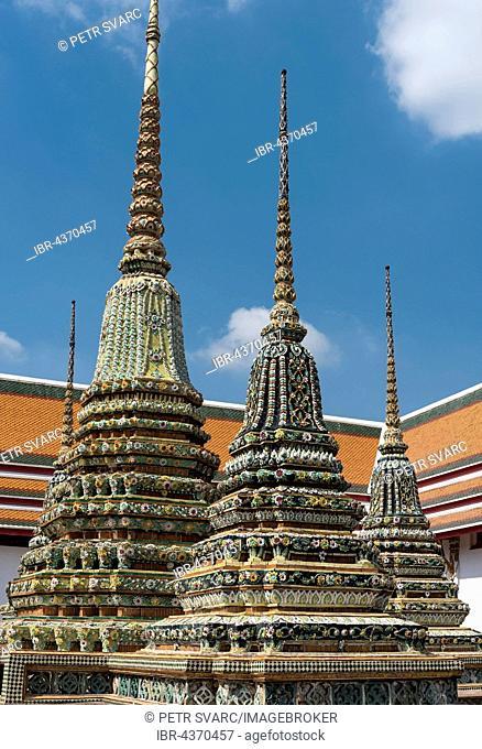 Phra Chedi Rai stupas at Wat Pho or Wat Po, temple, Bangkok, Thailand