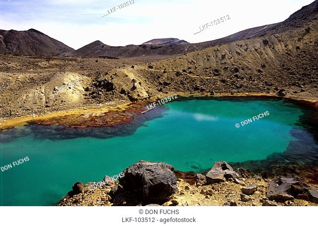 Emerald Lakes, Tongariro Crossing, Tongariro National Park, North Island, New Zealand
