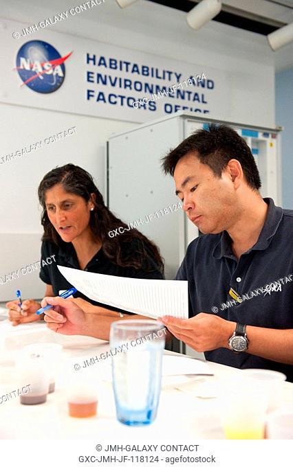 NASA astronaut Sunita Williams, Expedition 32 flight engineer and Expedition 33 commander; and Japan Aerospace Exploration Agency (JAXA) astronaut Akihiko...