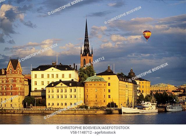 Sweden, Stockholm, Gamla Stan Old town, Riddarholmen Island