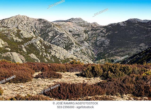 Buitrera peak in the Sierra Norte. Guadalajara. Castilla la Mancha. Spain. Europe
