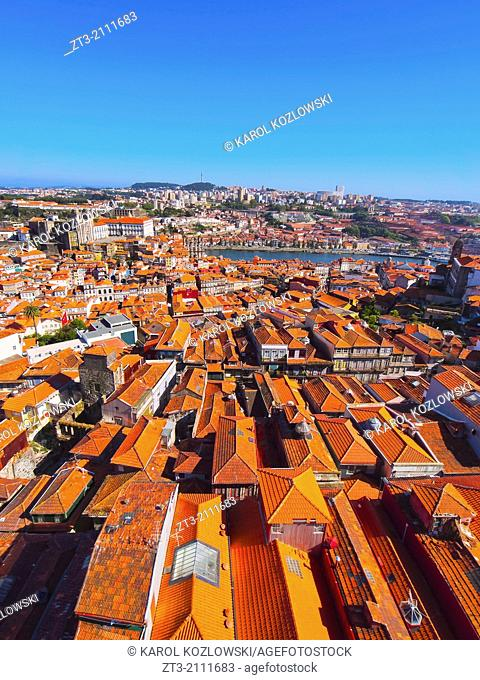 Red Roofs - view from Clerigos Tower in Porto, Portugal