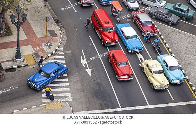 View of Paseo de Marti or Paseo del Prado, La Habana Vieja district, La Habana, Cuba