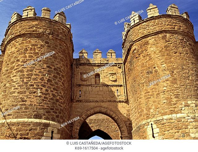 Puerta de San Andrés, medieval gate of the village, Villalpando Villalpando, Spain  Villalpando is a municipality located in the province of Zamora
