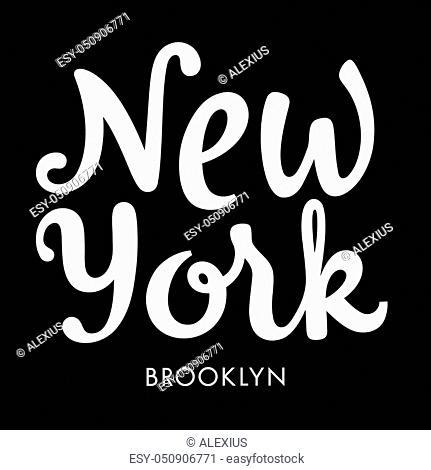 New York City Brooklyn typography / t-shirt graphic design / vectors / tee graphics