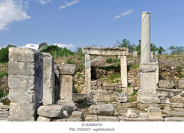 Excavation site in Perge, Turkey