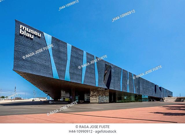 Spain, Catalonia, Barcelona City, Forum Building, Blue Museum