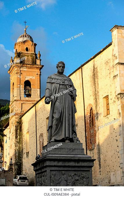Statue in town square, Pietrasanta, Tuscany, Italy