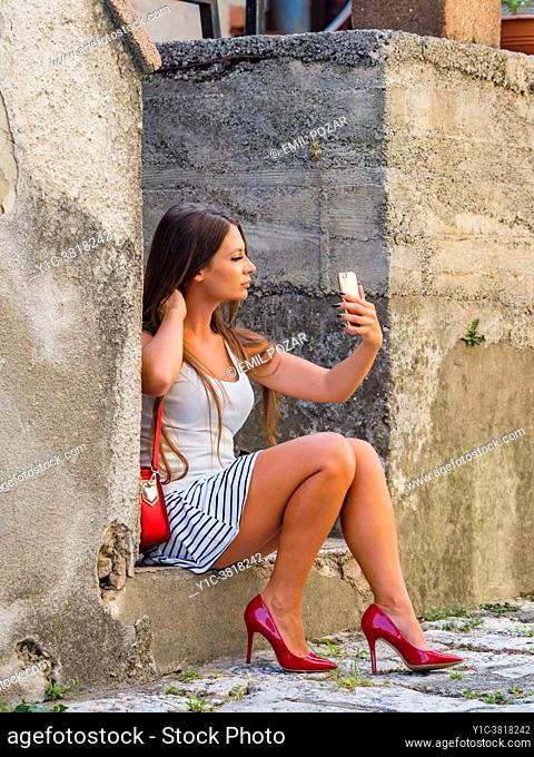 Young woman selfie