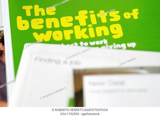 UK government leaflet about benefits which can be claimed while working