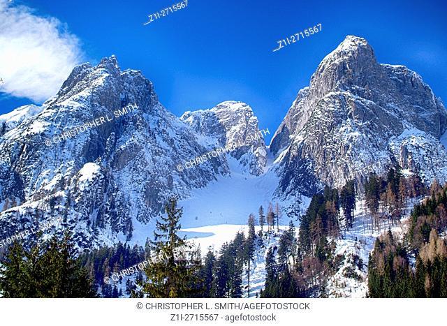 The Austrian Alps in the Salzkammergut region